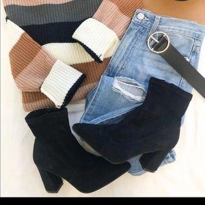 NIB- new boutique heeled booties